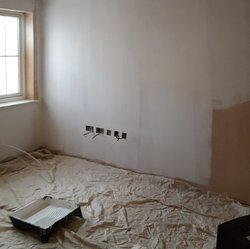painted plasterboard